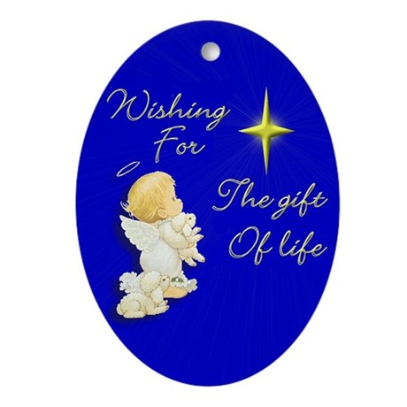 Wishing for life Oval Ornament