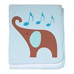 Music Notes Elephant Baby Blanket