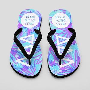 Delta Delta Delta Tropical Flip Flops
