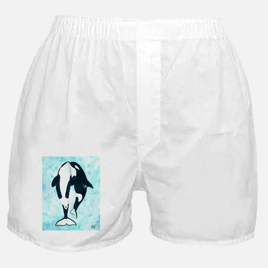Kissing Orca Boxer Shorts