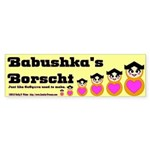Babushka's Borscht Recipe Sticker (Bumper 10 pk)