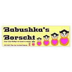 Babushka's Borscht Recipe Sticker (Bumper)