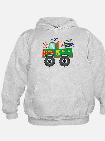 5th Birthday Monster Truck Hoodie