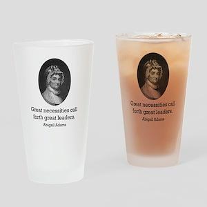 Abigail Adams Drinking Glass