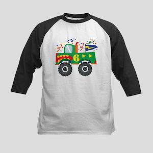 6th Birthday Monster Truck Kids Baseball Jersey