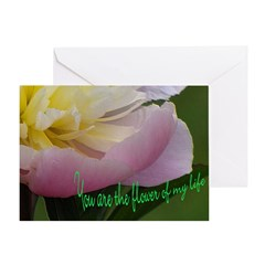 Valentine's Day Card Peony And Saying