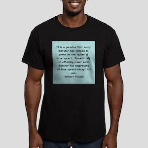 herbert hoover Men's Fitted T-Shirt (dark)