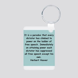 herbert hoover Aluminum Photo Keychain