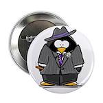 Mobster penguin Button