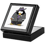 Mobster penguin Keepsake Box
