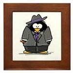 Mobster penguin Framed Tile