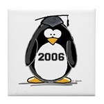 2006 Graduate penguin Tile Coaster