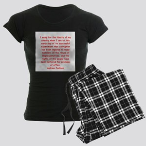 andrew jackson Women's Dark Pajamas