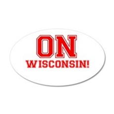 On Wisconsin 22x14 Oval Wall Peel