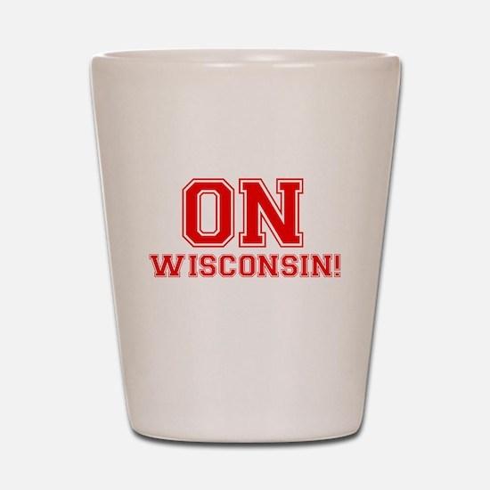 On Wisconsin Shot Glass