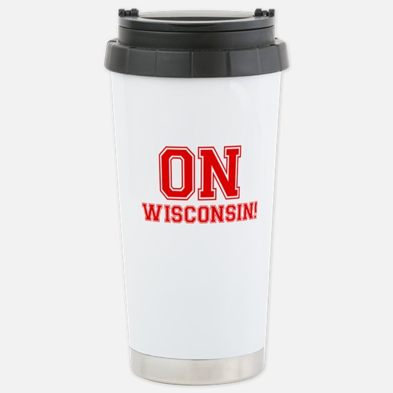 On Wisconsin Stainless Steel Travel Mug