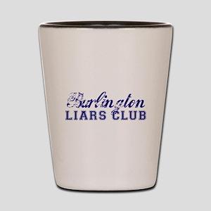 Burlington Liars Club Shot Glass