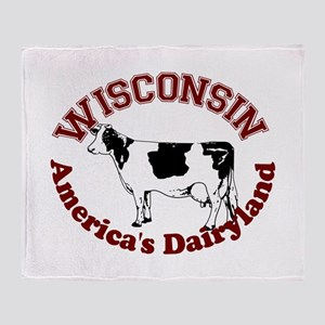 America's Dairyland Throw Blanket