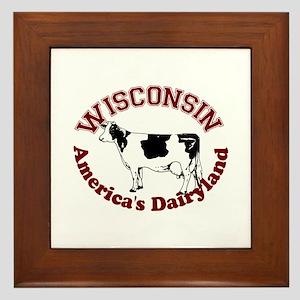 America's Dairyland Framed Tile