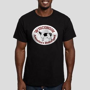 America's Dairyland Men's Fitted T-Shirt (dark)