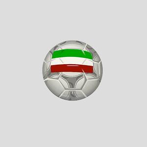 Iranian Flag/Soccer Ball Mini Button