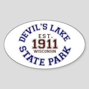Devil's Lake State Park Sticker (Oval)