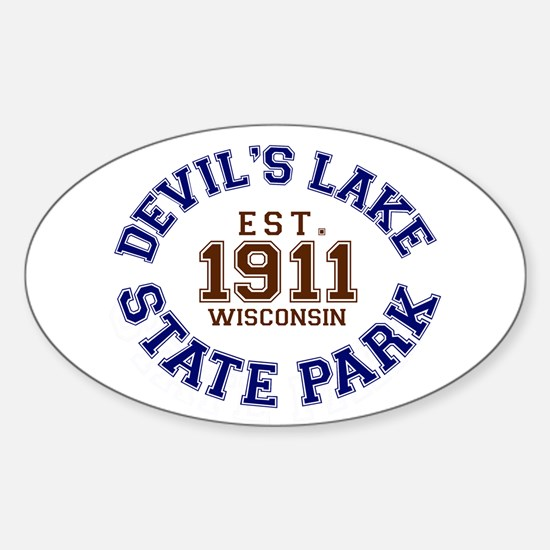 Devil's Lake State Park Sticker (Oval)