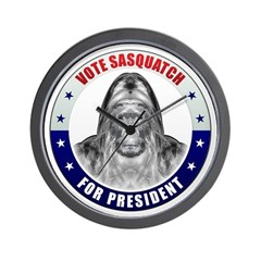 Sasquatch For President Wall Clock