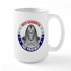 Sasquatch For President Large Mug