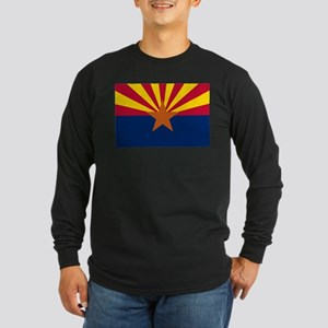 Arizona State Flag Long Sleeve Dark T-Shirt
