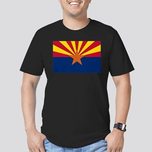 Arizona State Flag Men's Fitted T-Shirt (dark)