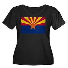 Arizona State Flag Women's Plus Size Scoop Neck Da