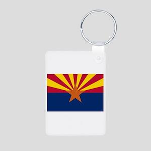 Arizona State Flag Aluminum Photo Keychain