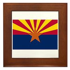 Arizona State Flag Framed Tile
