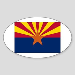 Arizona State Flag Sticker (Oval)
