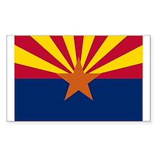 Arizona State Flag Sticker (Rectangle 50 pk)