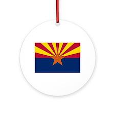 Arizona State Flag Ornament (Round)