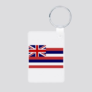Hawaii State Flag Aluminum Photo Keychain