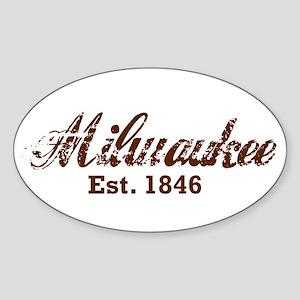Milwaukee, est. 1846 t-shirts Sticker (Oval)