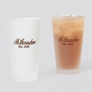 Milwaukee, est. 1846 t-shirts Drinking Glass