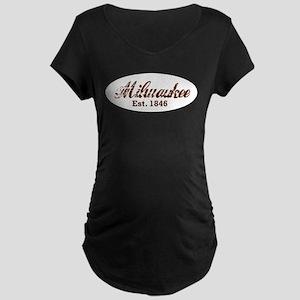 Milwaukee, est. 1846 t-shirts Maternity Dark T-Shi