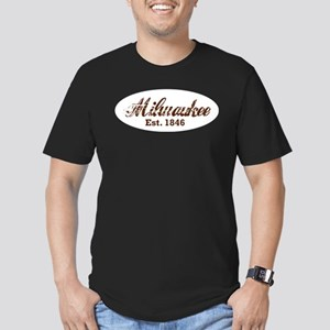 Milwaukee, est. 1846 t-shirts Men's Fitted T-Shirt