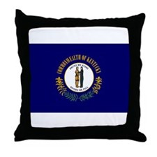 Kentucky State Flag Throw Pillow