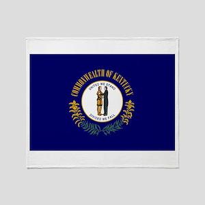 Kentucky State Flag Throw Blanket