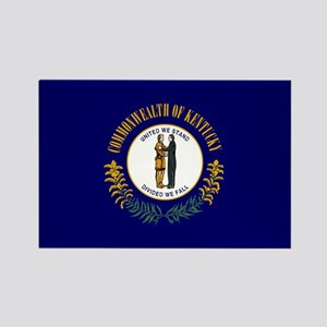 Kentucky State Flag Rectangle Magnet