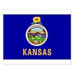 Kansas State Flag Small Poster