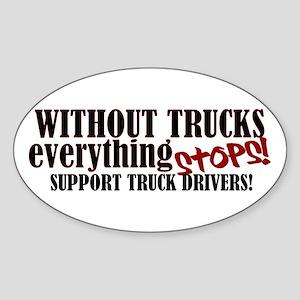Trucker Support Sticker (Oval)