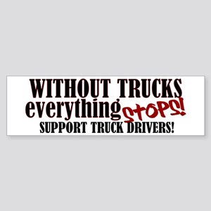Trucker Support Sticker (Bumper)