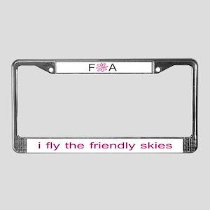 Friendly Skies License Plate Frame