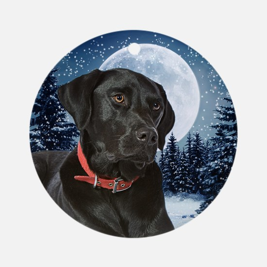 Winter Black Lab Ornament